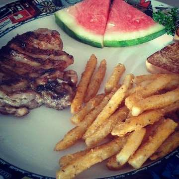 Chicken steak ...