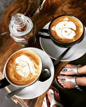 F.R.E.A.K. Coffee. ☕️☕️☕️ We come everyday. Twice. And special customers get special coffee? Many thanks to the greatest staff for the everyday pleasure??? . . #travel #instatravel #wanderlust #travelgram #bali #ubud #traveler #coffee #freakcoffee #instagood #everyday #latteart #special #delicious #enjoy #littlethings #loveit #yogajourney #yogalife #nocoffeenoprana #goodmorning #coffeelover  #coffeeholic @dari_one ?‍♀️